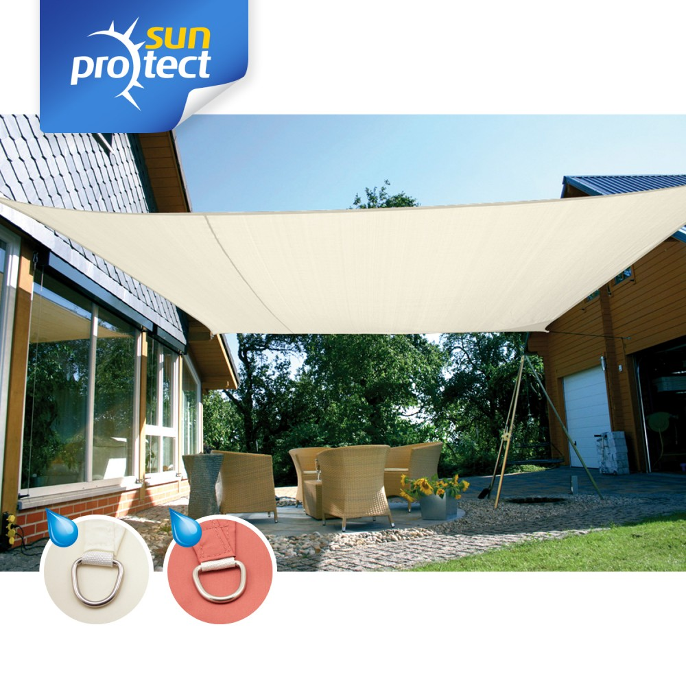 sunprotect sonnensegel viereck quadrat rechteck. Black Bedroom Furniture Sets. Home Design Ideas