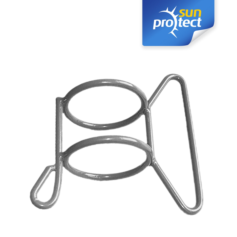 sunprotect montage zubeh r f r sonnensegel stahlmast schiebegriff grau 1 st ck. Black Bedroom Furniture Sets. Home Design Ideas