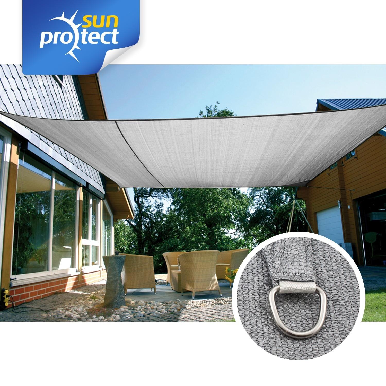 sunprotect sonnensegel professional 6 x 4 m rechteck grausilber 1 st ck. Black Bedroom Furniture Sets. Home Design Ideas