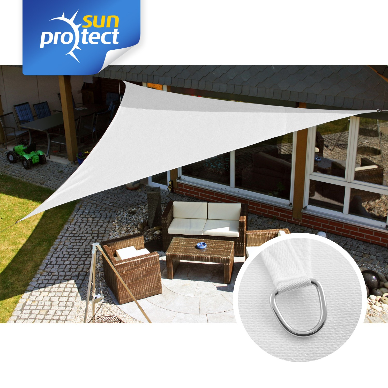 sunprotect sonnensegel professional 5 x 5 x 5 m dreieck wei 1 st ck. Black Bedroom Furniture Sets. Home Design Ideas