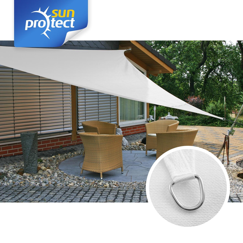 sunprotect sonnensegel professional 3 6 x 3 6 x 3 6 m dreieck wei 1 st ck. Black Bedroom Furniture Sets. Home Design Ideas