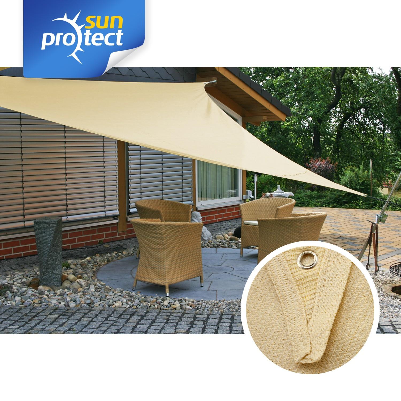 sunprotect sonnensegel classic 3x3x3m dreieck saharabeige. Black Bedroom Furniture Sets. Home Design Ideas