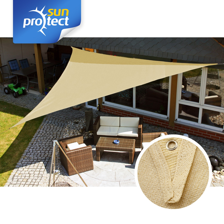 sunprotect sonnensegel classic 5x5x5m dreieck saharabeige. Black Bedroom Furniture Sets. Home Design Ideas