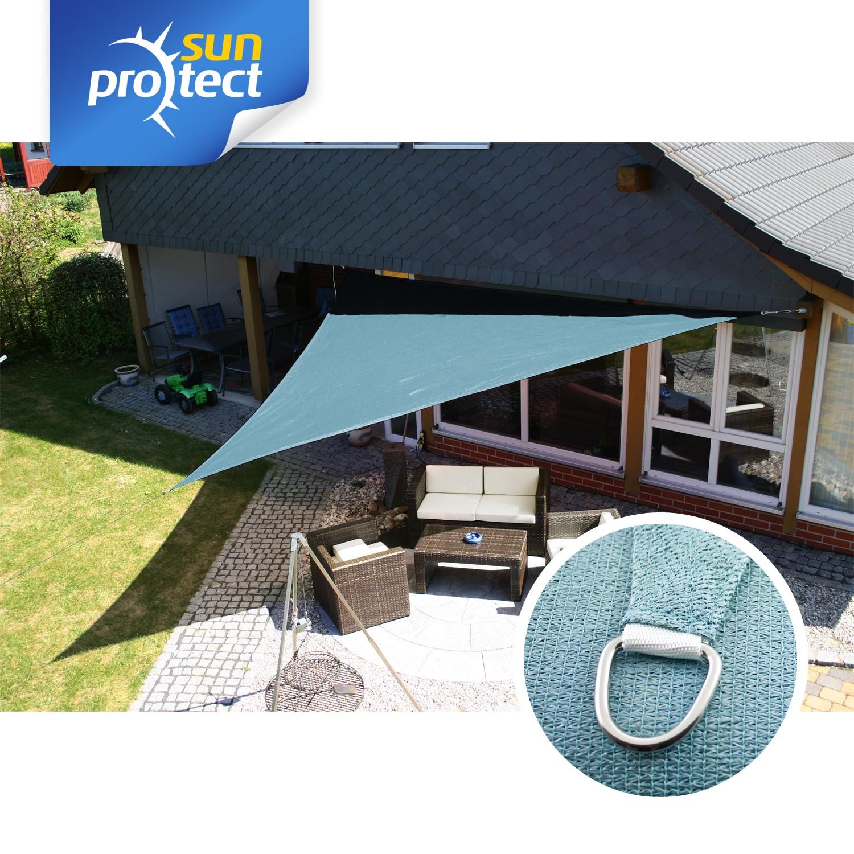 sunprotect sonnensegel professional 5 x 5 x 5 m dreieck blaugrau 1 st ck. Black Bedroom Furniture Sets. Home Design Ideas