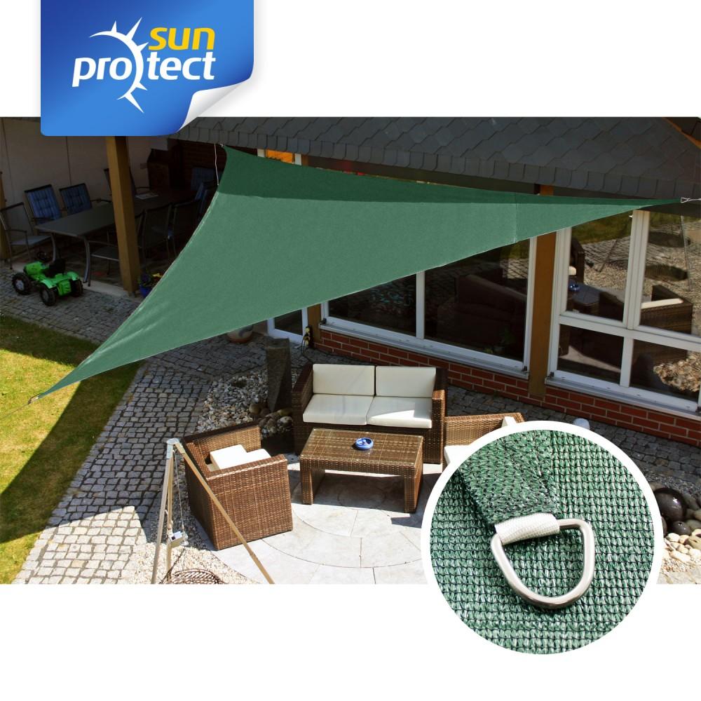 sunprotect sonnensegel professional 5 x 5 x 7 m dreieck 90 gr n 1 st ck. Black Bedroom Furniture Sets. Home Design Ideas