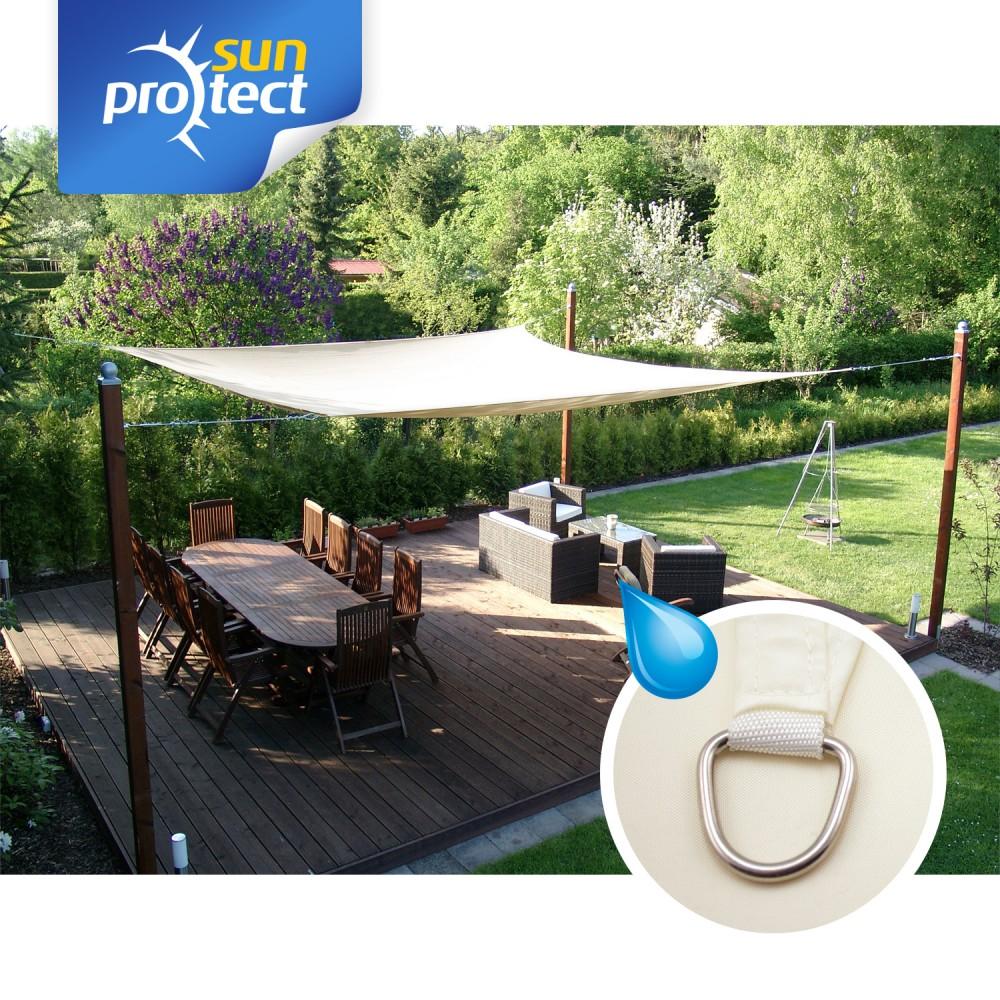 sunprotect sonnensegel viereck quadrat rechteck sonnenschutz wasserabweisend. Black Bedroom Furniture Sets. Home Design Ideas